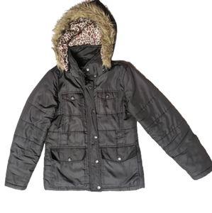 DOLLHOUSE Black Hooded Puffer Jacket